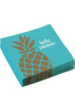 Amscan ananas servetten 33 x 33 cm 20 stuks