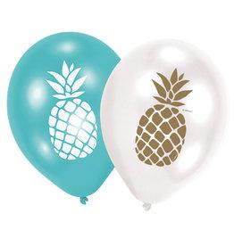 Amscan ananas ballonnen 6 stuks
