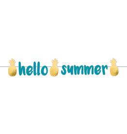 Amscan ananas letterslinger hello summer 125 cm