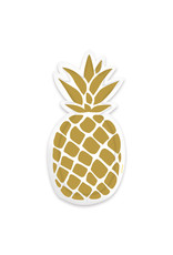 Amscan ananas borden in vorm 6 stuks