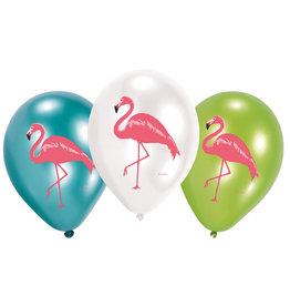 Amscan Flamingo ballonnen 6 stuks
