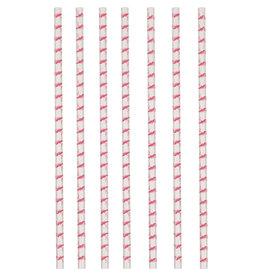 Amscan papieren rietjes flamingo 12 stuks