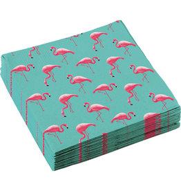 Amscan servetten flamingo 33 x33 cm 20 stuks
