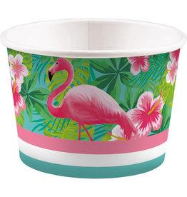 Amscan flamingo ijscups 8 stuks