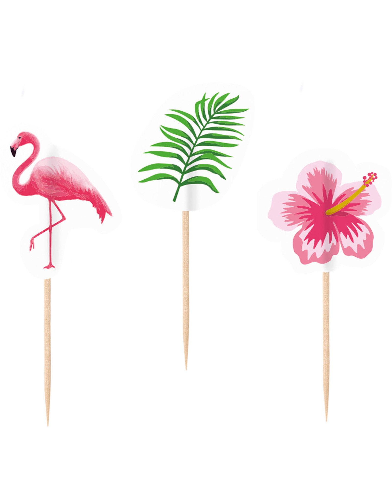Amscan flamingo party prikkers 20 stuks