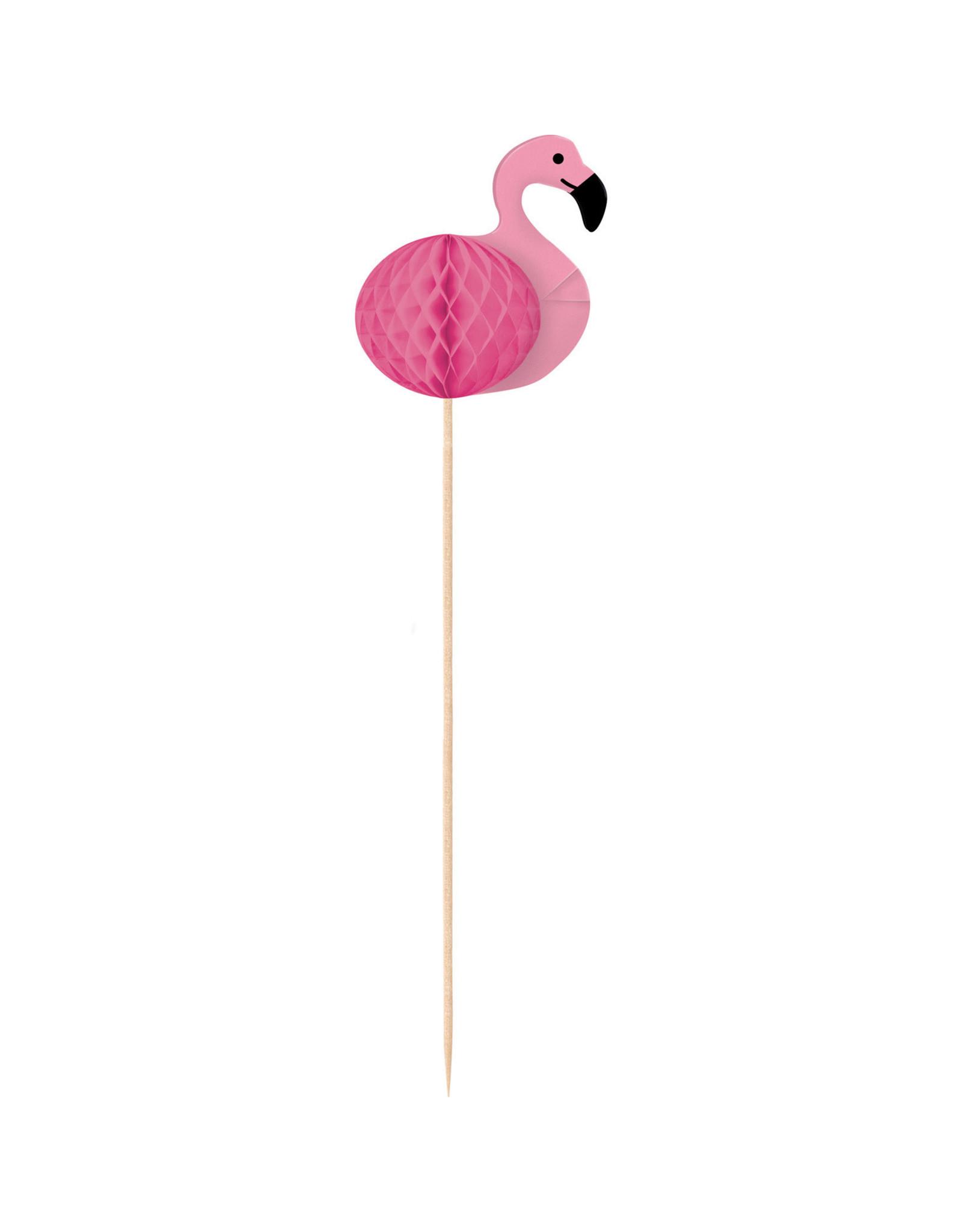 Amscan flamingo prikkers 10 stuks