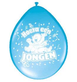 Latex ballonnen hoera een jongen 8 stuks