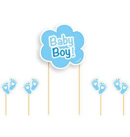 Taart topper baby boy