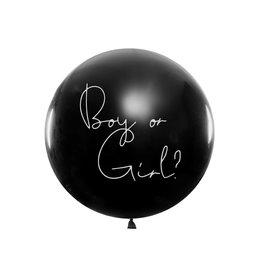 Gender reveal ballon boy or girl 90 cm blue