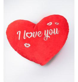 Hartkussen rood I love you