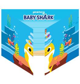 Baby Shark uitnodigingen 8 stuks