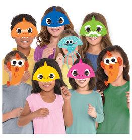 Baby Shark gezichtsmaskers 8 stuks