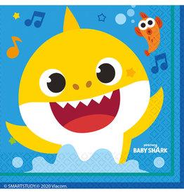 Baby Shark servetten 33 cm x 33 cm 16 stuks