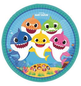 Baby Shark kartonnen borden 23 cm 8 stuks