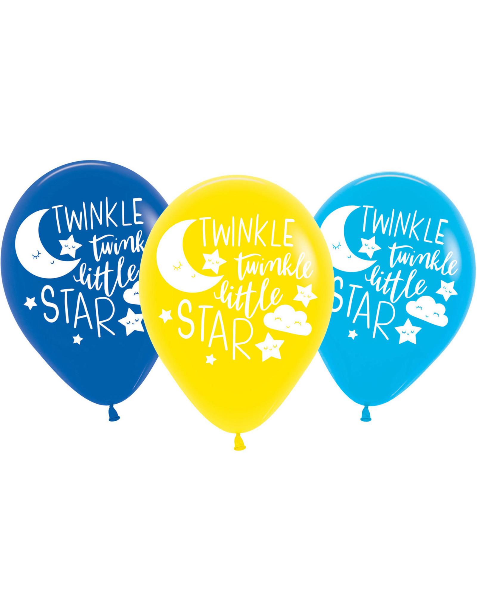 Amscan twinkle little star latex ballonnen 6 stuks