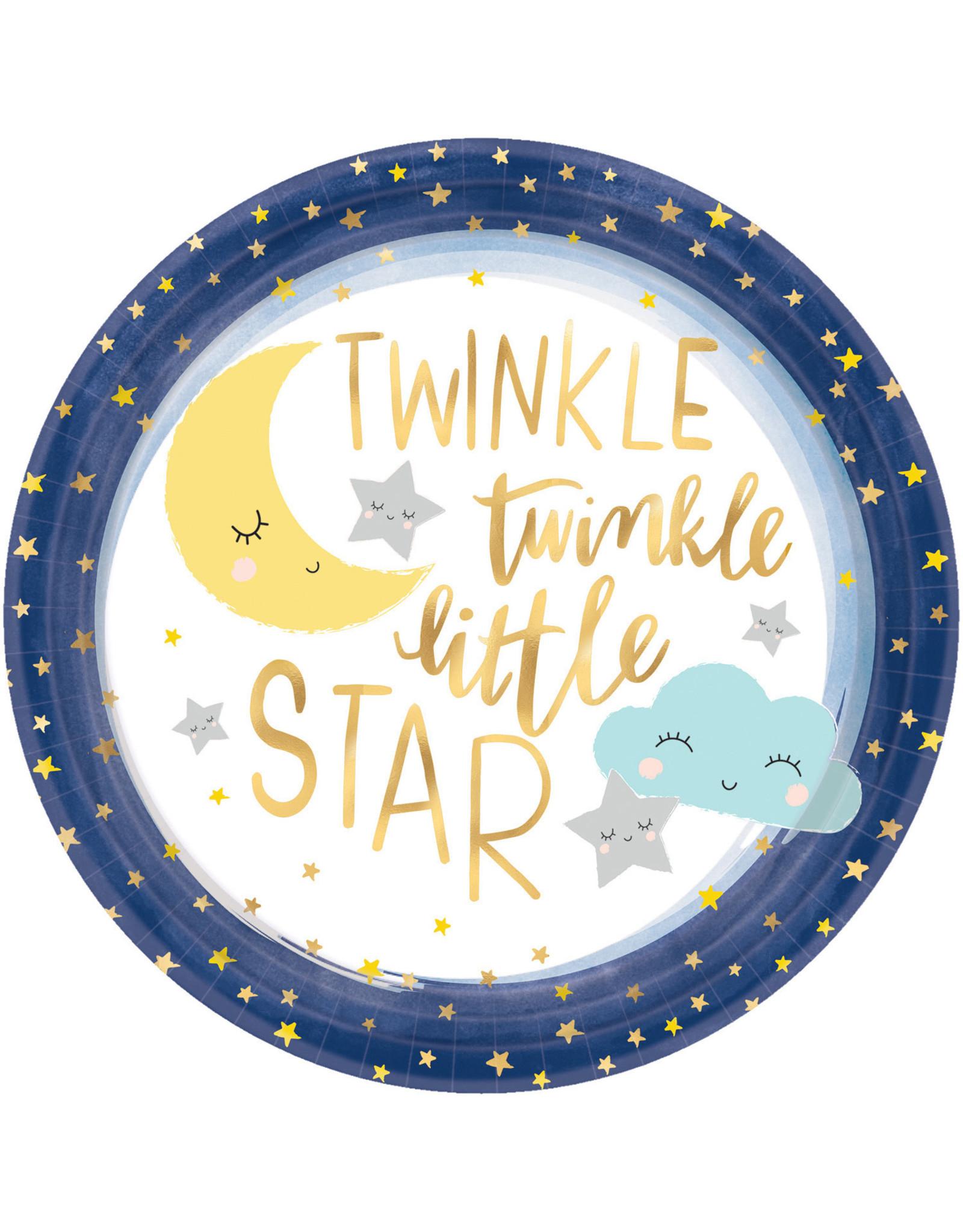 Amscan twinkle little star borden 27 cm 8 stuks