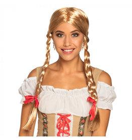 Boland pruik Heidi blond (Oktoberfest)