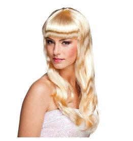 Boland pruik chique blond 1 stuk