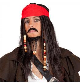 Boland Pruik, baard en snor Jack Sparrow