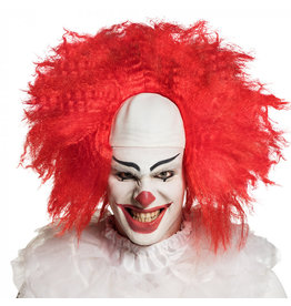 Boland pruik horror clown 1 stuk