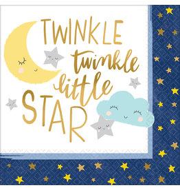 Amscan twinkle little star servetten 33 x 33 cm 16 stuks