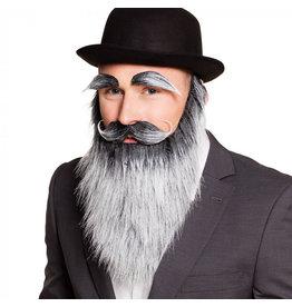 Boland oude man incl baard, snor en wenkbrauwen