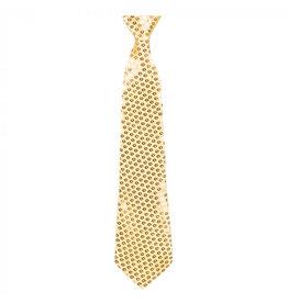 Boland stropdas spangles goud 40 cm
