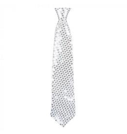 Boland stropdas spangles zilver 40 cm