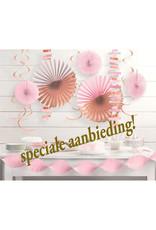 Amscan decoratieset roze/rose goud 14-delig