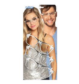 Boland set 3 brillen party zilver