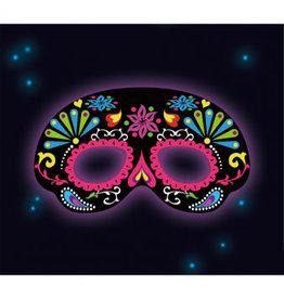 Amscan fancy glow masker zwart 1 stuk
