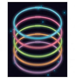 Amscan lichtgevende halskettingen 10 stuks div kleuren