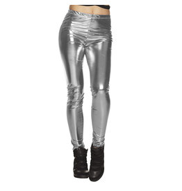 Boland legging zilver stretch