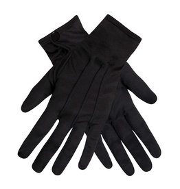 Boland handschoenen zwart met drukknoop 1 set