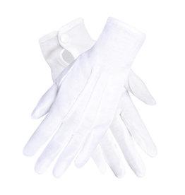 Boland handschoenen basic wit met drukknoop