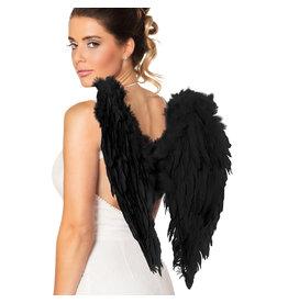 Boland engelenvleugels zwart 50 x 50 cm