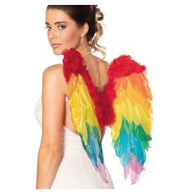 Boland engelenvleugels regenboog kleuren