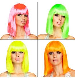 Pruik dance neon kleur