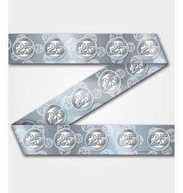 Party tape 25 jaar zilver 12 meter