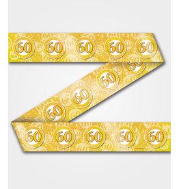 Party tape 60 jaar goud 12 meter