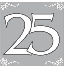 Servetten 25 jaar zilver 20 stuks