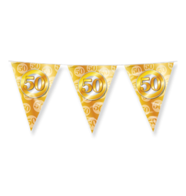 Party vlaggenlijn 50 jaar goud 10 meter