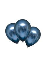 Amscan chroom ballon azure blauw 6 stuks