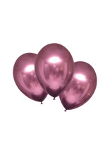 Amscan chroom ballon flamingo rose 6 stuks