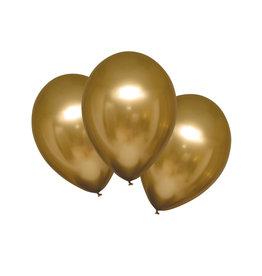 Amscan chroom ballon gold sateen 6 stuks