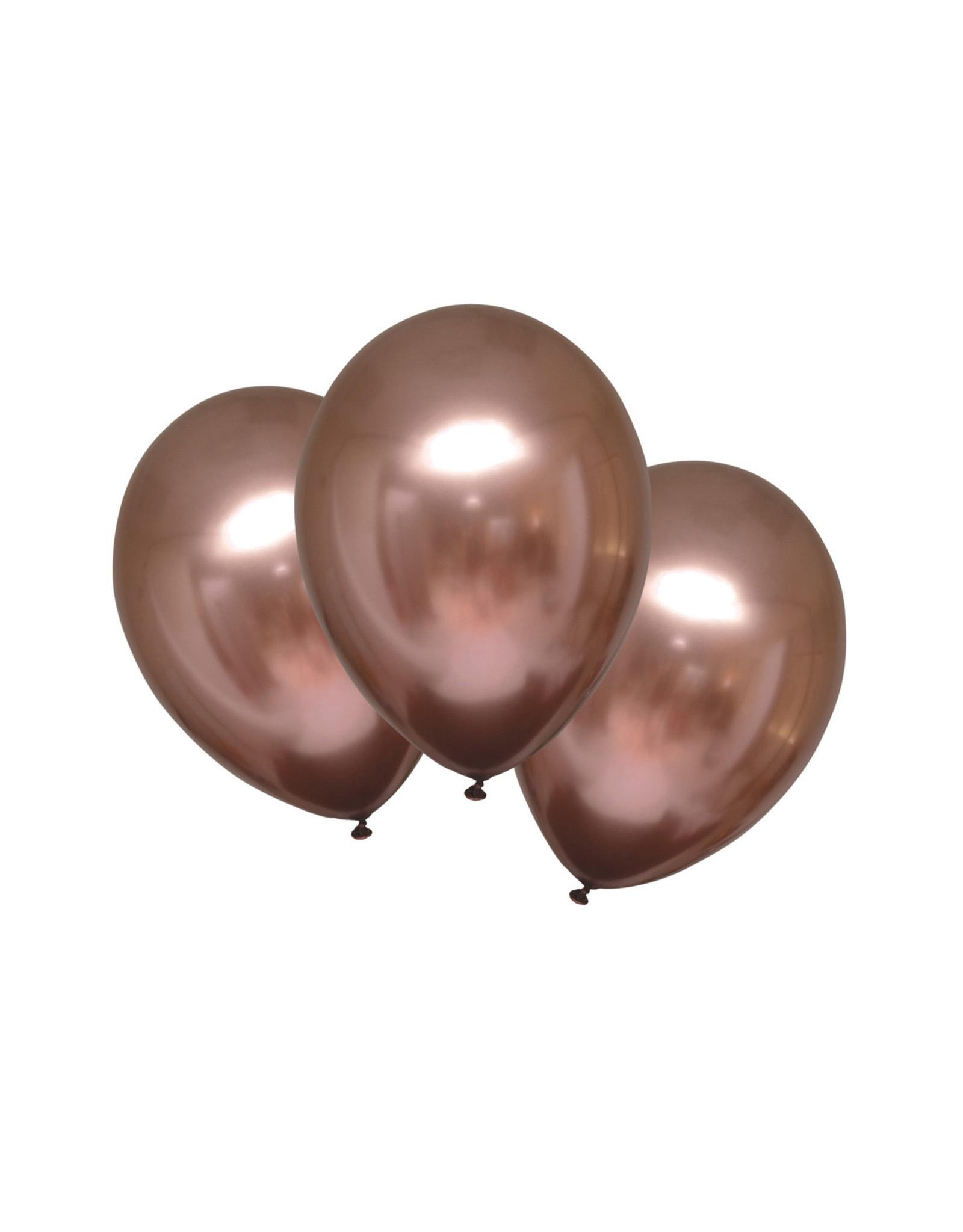Amscan chroom ballon rose goud 6 stuks