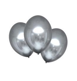 Amscan chroom ballon zilver 6 stuks