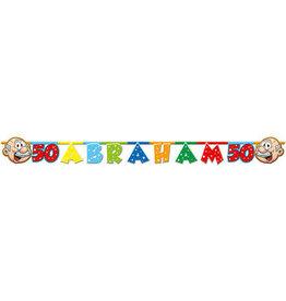 Abraham letterbanier 1.5 meter