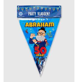 Party vlaggenlijn Abraham 50 jaar 10 meter