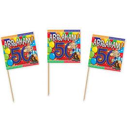 Party prikkers Abraham 50 stuks